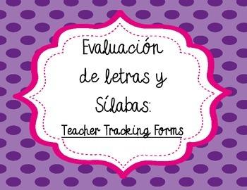 Spanish Letter and Letter Sounds Assessment Teacher Tracki
