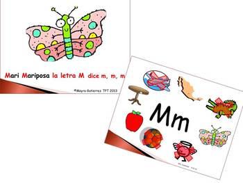Spanish: Letter of week PPT M    Letra de la semana PPT M
