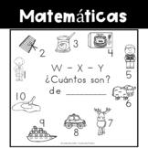 Spanish:  Letters W - X - Y Counting Book / Cuenta con las letras W - X - Y