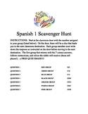 Spanish Level 1 Grammar Scavenger Hunt