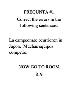 Spanish Level 2 Grammar Scavenger Hunt