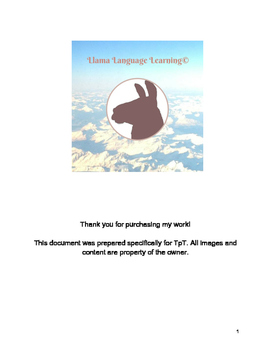 Spanish Level Beginner/Intermediate Conjugation Practice Table