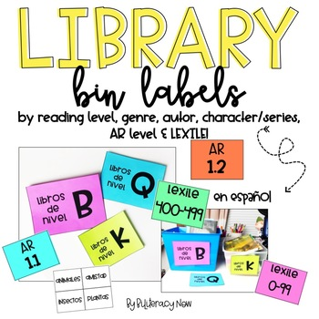 Spanish Library Labels by A-Z, Author, Genre, Character, AR, Lexile & Interest!
