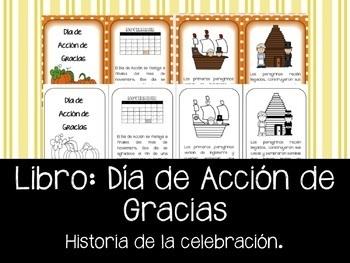 Dia de Accion de Gracias - Librito con la historia de la celebracion