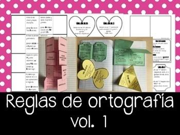 REGLAS de Ortografía en Español Vol.1 - Libro escalonado.