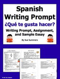 Spanish Likes and Dislikes Writing Prompt - Gustar Verbs