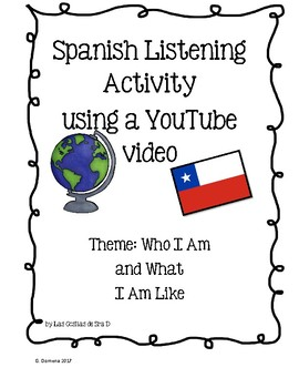 FREE Listening Activity in Spanish-Using a YouTube video,Theme:What I am Like