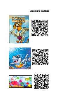 Spanish Listening Center QR Codes