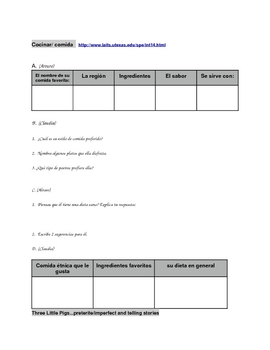 Spanish Listening Comprehension Acitivities.  Short and ready to go!