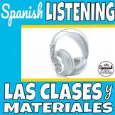 Spanish Listening Comprehension: School subjects (las clases y mi horario)