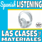 Spanish Listening Comprehension: School subjects (las clas