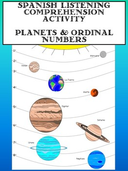 Spanish Listening Comprehension- Solar System & Ordinal Numbers