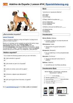 Spanish Listening Worksheets