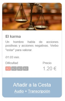 Spanish Listening (beginners): El karma