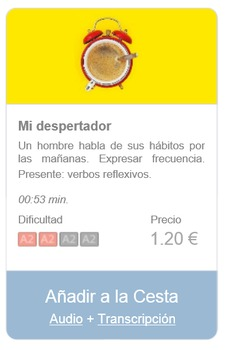 Spanish Listening (beginners): Mi despertador