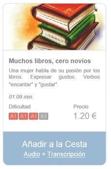 Spanish Listening (beginners): Muchos libros, cero novios
