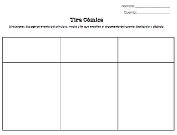 Spanish Lit Tic Tac Toe (Printables & Power Point)