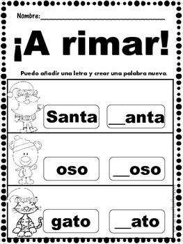 Spanish Literacy Activities