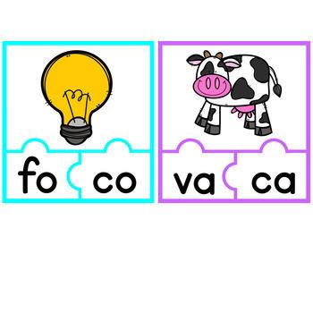 Spanish Literacy Center - Armando Palabras Con Silabas