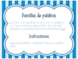 Spanish Literacy Center: Familias de palabras