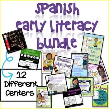 Spanish Literacy Centers BUNDLE