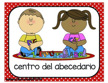 Spanish Literacy Centers Signs