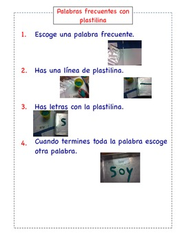 Spanish Literacy Station Instructions (Set of 6)