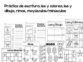 Spanish Literacy Summer Review (K-1st grade) / Repaso de verano Español (K-1ro)
