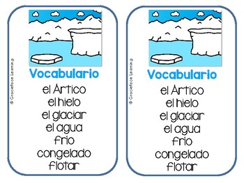 Spanish Literacy and Science – The Arctic – Yo puedo escribir sobre el Ártico