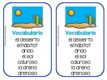 Spanish Literacy and Science – Desert – Yo puedo escribir sobre el desierto