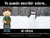 Spanish Literacy and Science – Weather – Yo puedo escribir sobre el clima