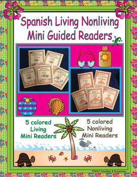 Spanish Living and Nonliving Mini Guided Readers Beach Theme