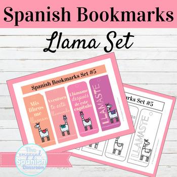 Spanish Llama Bookmarks