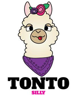 Spanish Llama Emoji Posters   Emotions in Spanish - FULL COLOR VERSION ONLY