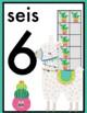 Spanish Llama Number Posters