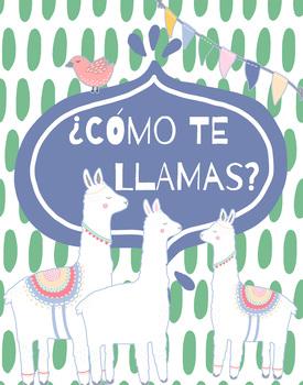 Spanish Llama Poster - ¿Como Te Llamas?
