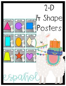 Spanish Llama Shape Posters 2-D