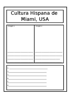 Spanish Location Interactive Journal Template