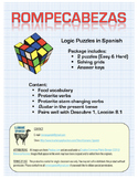 Spanish Logic Puzzles with Stem Changing Preterite Verbs