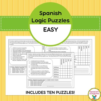 Spanish Logic Puzzles:  Easy