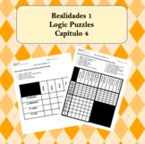Spanish Logic Puzzles Realidades 1 4A and 4B