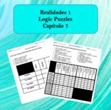 Spanish Logic Puzzles Realidades 1 7A and 7B