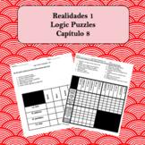 Spanish Logic Puzzles Realidades 1 8A and 8B