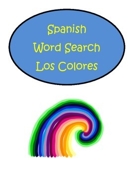 Spanish Colors Colores Word Search Puzzle