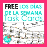 FREE Los Días de la Semana Task Cards | Free Spanish Days
