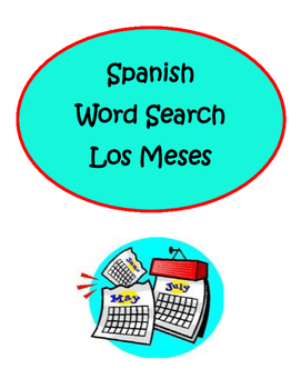 Spanish Months Meses Word Search Puzzle