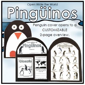 Spanish Los Pingüinos Penguins Craftivity Booklet