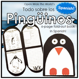 Spanish Los Pingüinos Penguins Craftivity Booklet