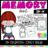 Spanish MEMORY BOOK PK-K