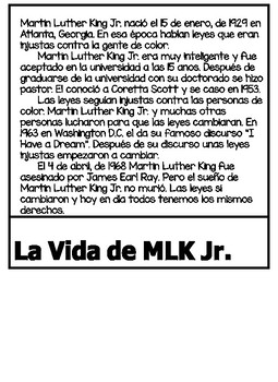 Spanish MLK Jr. Flipbook